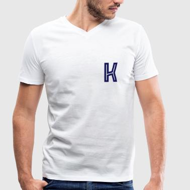 K - Men's Organic V-Neck T-Shirt by Stanley & Stella