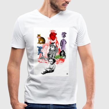Alice in Wonderland - Men's Organic V-Neck T-Shirt by Stanley & Stella
