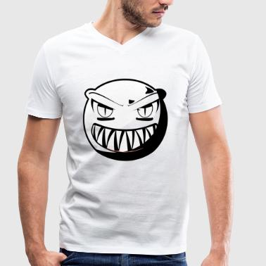 Grinning monster - Men's Organic V-Neck T-Shirt by Stanley & Stella
