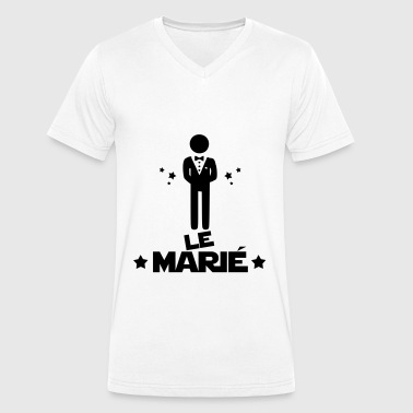 le marié,citations,message,bonhomme - T-shirt bio col V Stanley & Stella Homme