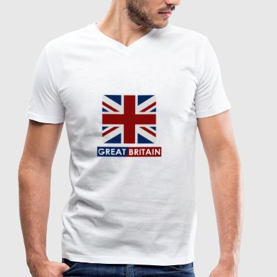 Great Britain flag - Men's Organic V-Neck T-Shirt by Stanley & Stella