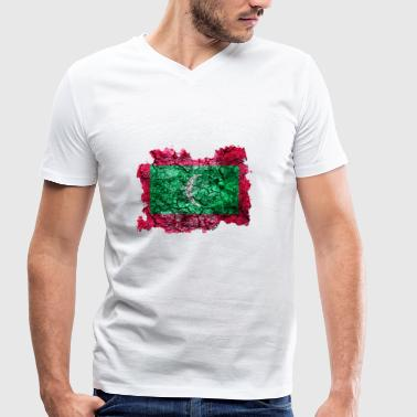 Maldives vintage flag - Men's Organic V-Neck T-Shirt by Stanley & Stella