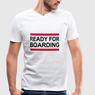 boarding - Men's Organic V-Neck T-Shirt by Stanley & Stella