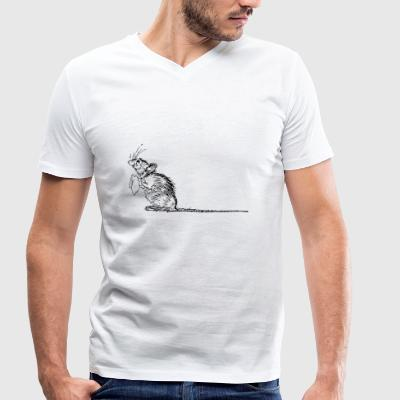 mouse - Men's Organic V-Neck T-Shirt by Stanley & Stella