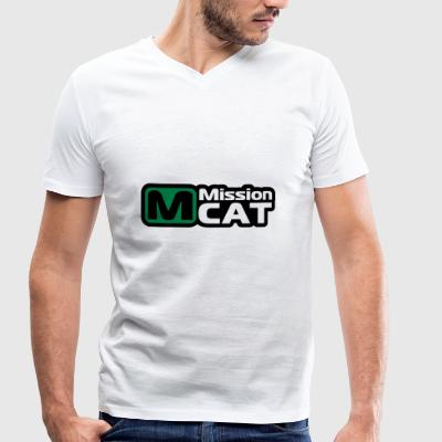 Mission Cat - Men's Organic V-Neck T-Shirt by Stanley & Stella