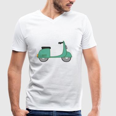 moped - Men's Organic V-Neck T-Shirt by Stanley & Stella