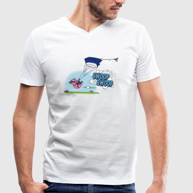 Swooping Poops - Men's Organic V-Neck T-Shirt by Stanley & Stella