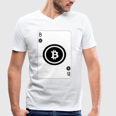 Bitcoin jouer carte Card Game - T-shirt bio col V Stanley & Stella Homme