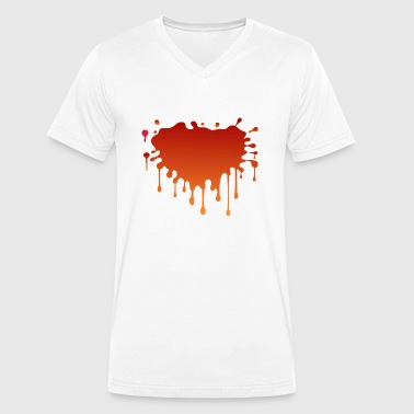 Blood spatter - Men's Organic V-Neck T-Shirt by Stanley & Stella