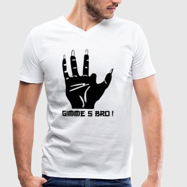 gimme5 blak - Men's Organic V-Neck T-Shirt by Stanley & Stella