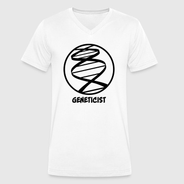 Genetics - geneticist - Men's Organic V-Neck T-Shirt by Stanley & Stella