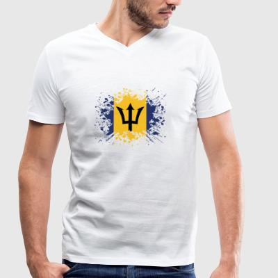 home country roots roots love Barbados png - Men's Organic V-Neck T-Shirt by Stanley & Stella
