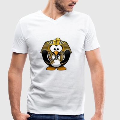 Pharaoh penguin - Men's Organic V-Neck T-Shirt by Stanley & Stella