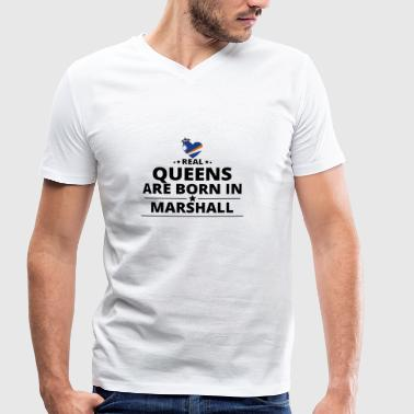 GIFT QUEENS LOVE FROM MARSHALL ISLANDS - Men's Organic V-Neck T-Shirt by Stanley & Stella