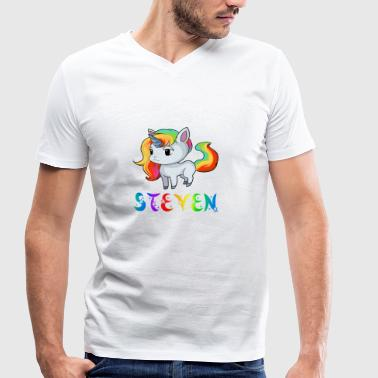 Unicorn Steven - Men's Organic V-Neck T-Shirt by Stanley & Stella