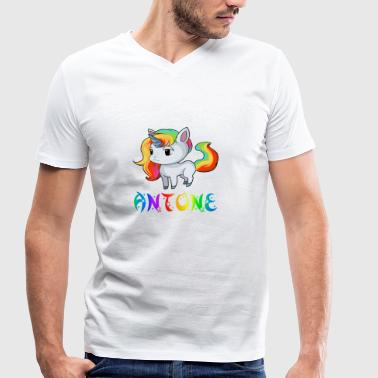 Unicorn Antone - Men's Organic V-Neck T-Shirt by Stanley & Stella