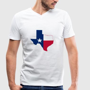 Texas - Men's Organic V-Neck T-Shirt by Stanley & Stella