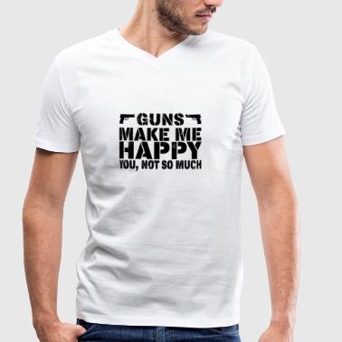 Guns Make Me Happy - You, Not So Much - Männer Bio-T-Shirt mit V-Ausschnitt von Stanley & Stella
