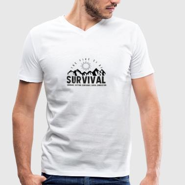 5Cs of Survival Mountain - Men's Organic V-Neck T-Shirt by Stanley & Stella