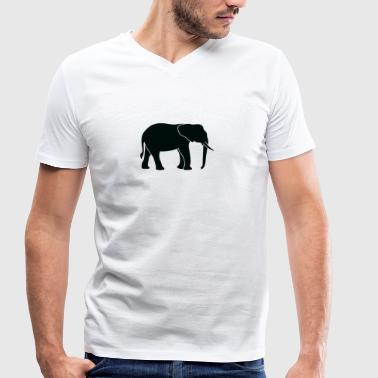 A Big Elephant With Trunk - Men's Organic V-Neck T-Shirt by Stanley & Stella
