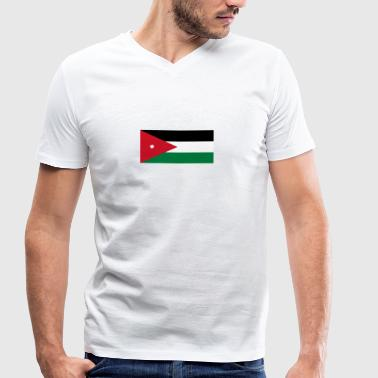 National Flag Of Jordan - Men's Organic V-Neck T-Shirt by Stanley & Stella