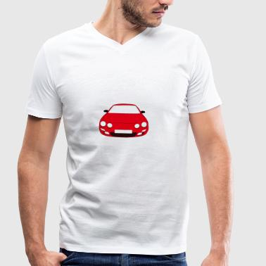 Red car - Men's Organic V-Neck T-Shirt by Stanley & Stella