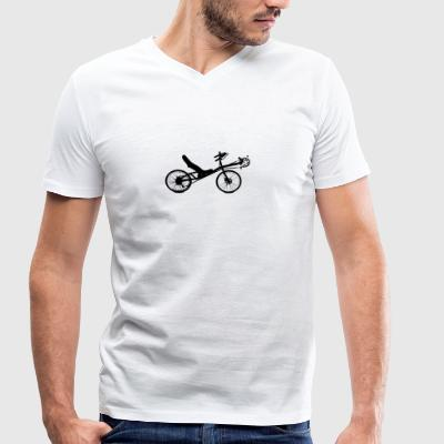 recumbent - Men's Organic V-Neck T-Shirt by Stanley & Stella