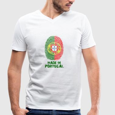 Portugal flag - Made in Portugal - gift - Men's Organic V-Neck T-Shirt by Stanley & Stella