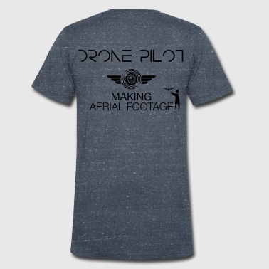 T-shirt: Making Aerial Footage (men) | Grey - Mannen bio T-shirt met V-hals van Stanley & Stella