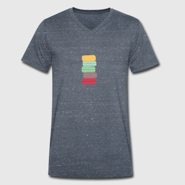colorful macarons - Men's Organic V-Neck T-Shirt by Stanley & Stella