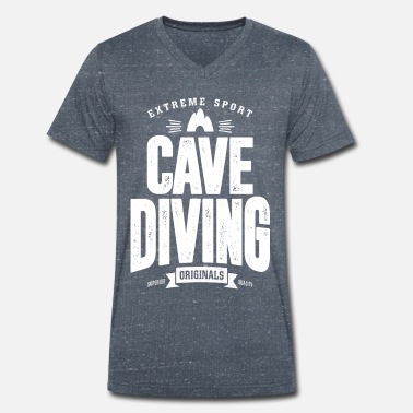 Cave Diving Cave Diving - Men's Organic V-Neck T-Shirt by Stanley & Stella