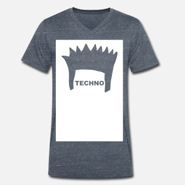 Electronica FRISUR Electronica Underground Club Festival Style - Men's Organic V-Neck T-Shirt by Stanley & Stella