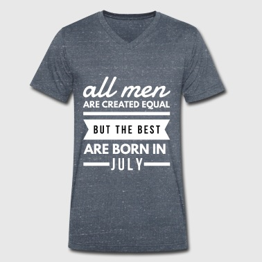 All Men Are Created Equal Juni verjaardag shirt man - Mannen bio T-shirt met V-hals van Stanley & Stella