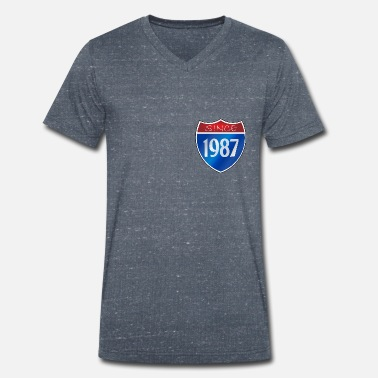 Since 1987 Since 1987 - Men's Organic V-Neck T-Shirt by Stanley & Stella