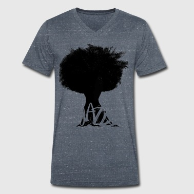 Jazz tree - Men's Organic V-Neck T-Shirt by Stanley & Stella