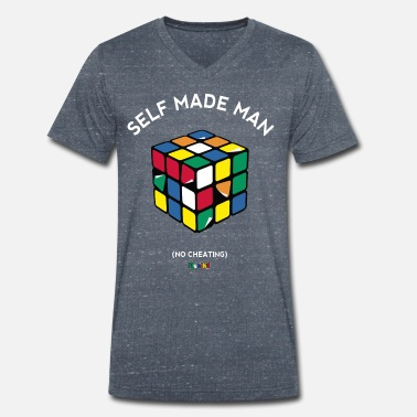 Rubiks Rubik's Cube Self Made Man No Cheating - Mannen bio T-shirt met V-hals van Stanley & Stella