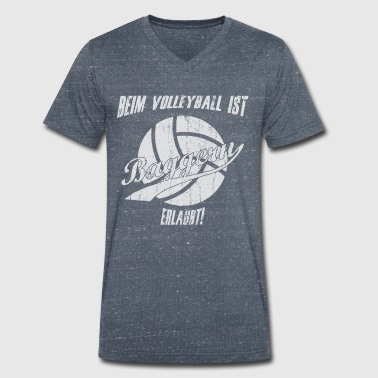 Cram Volleyball dredge sports saying - Men's Organic V-Neck T-Shirt by Stanley & Stella