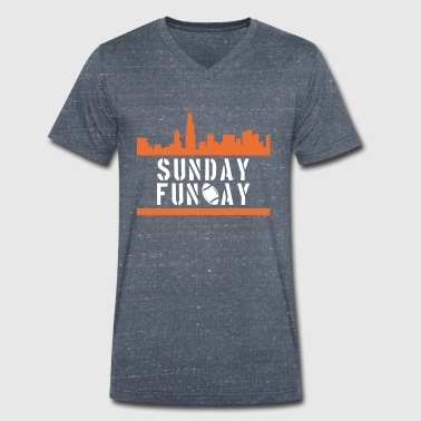 Sunday League sunday football - Men's Organic V-Neck T-Shirt by Stanley & Stella