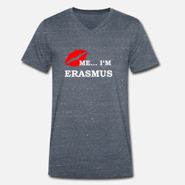 Erasmus Erasmus Shirt Students University International - T-shirt bio col V Stanley & Stella Homme