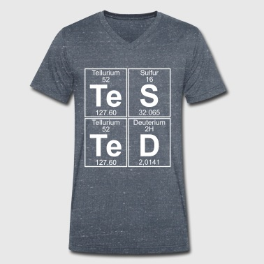 Te-S-Te-D (tested) (large) - Men's Organic V-Neck T-Shirt by Stanley & Stella