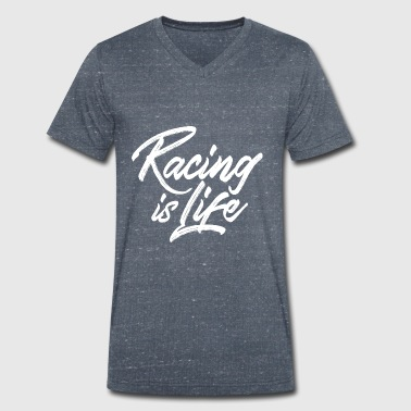 Racing is life - T-shirt bio col V Stanley & Stella Homme