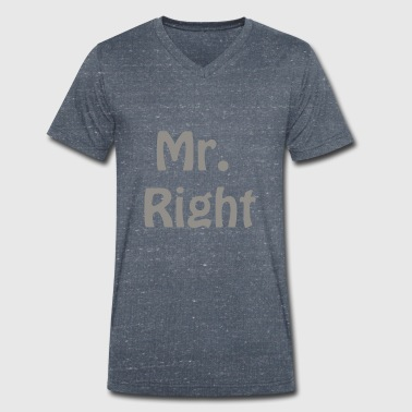 Mr. Right - Mannen bio T-shirt met V-hals van Stanley & Stella
