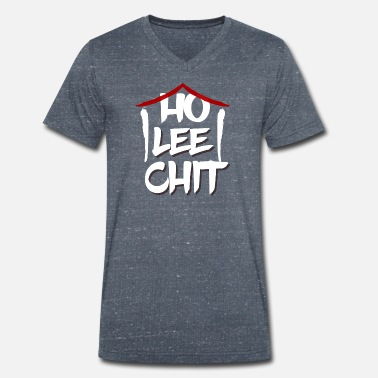Lee ho lee chit - holy shit - funny asia shirt - Men's Organic V-Neck T-Shirt by Stanley & Stella