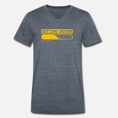 Get That Load Getting Drunk Loading Alcohol Drinking Bar Gift - Men's Organic V-Neck T-Shirt by Stanley & Stella