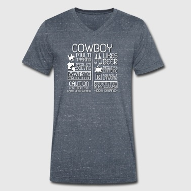 Trait Cowboy Traits - Men's Organic V-Neck T-Shirt by Stanley & Stella
