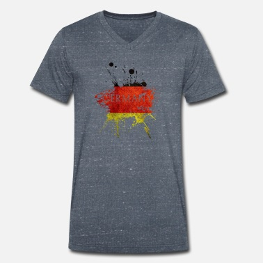 Flag Of Germany Germany Flag Germany Flag Flag - Men's Organic V-Neck T-Shirt by Stanley & Stella