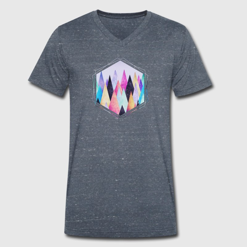 Hipster triangles (geometry) Abstract Mountains  - Men's Organic V-Neck T-Shirt by Stanley & Stella