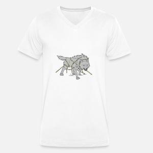 shirt Colliers Walhalla nordiques Légendes T Fenrir Loup Gris HT1601C