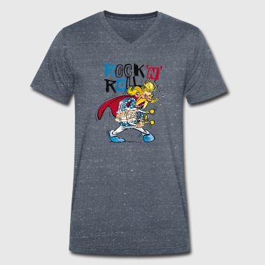 Asterix & Obelix Cacofonix Rock'n'Roll - Men's Organic V-Neck T-Shirt by Stanley & Stella