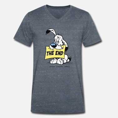 Asterix And Obelix Asterix & Obelix - Idefix 'The End' Teenager T-Shi - Camiseta ecológica hombre con cuello de pico de Stanley & Stella